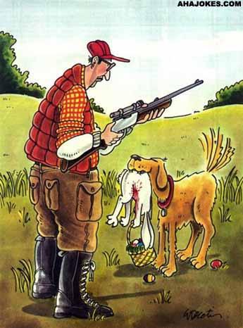 Chien de chasse et lapin