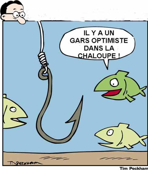 Pêcheur optimiste