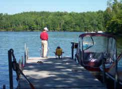 pêche au réservoir Poisson Blanc