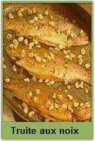 Recette de truite aux noix